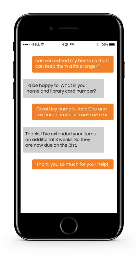 unique live web chat demo on cellphone