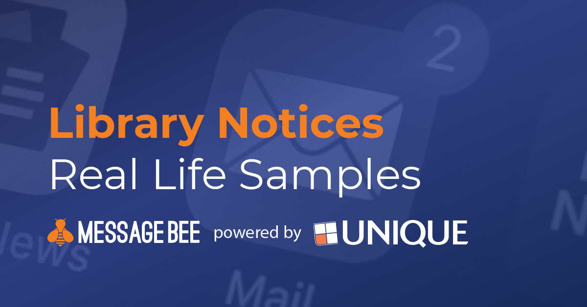 Real Life Notifications from MessageBee